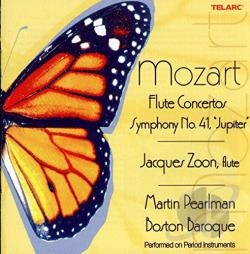 Boston Baroque / Mozart / Pearlman / Zoon - Mozart: Flute Concertos; Symphony No. 41 Jupiter CD Cover Art