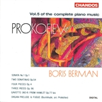 Berman / Prokofiev - Prokofiev: Complete Piano Music, Vol. 5 CD Cover Art