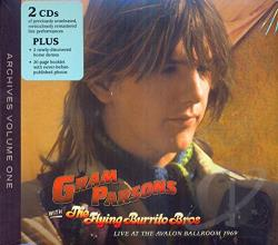 Parsons, Gram - Gram Parsons Archive, Vol. 1: Live at the Avalon Ballroom 1969 CD Cover Art