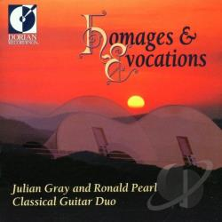 Gray, Julian / Pearl, Ronald - Homages And Evocations: Music For Two Guitars CD Cover Art