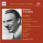Tauber, Richard - Programme of Lieder CD Cover Art