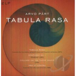 Part, Arvo - Tabula Rasa LP Cover Art