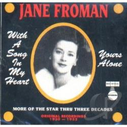 Froman, Jane - With A Song In My Heart CD Cover Art