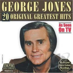 Jones, George - 20 Original Greatest Hits CD Cover Art