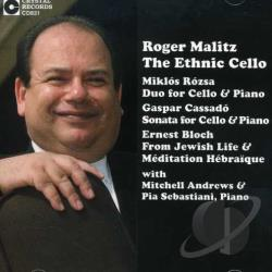 Andrews, Mitchell / Malitz, Roger - Roger Malitz: Ethnic Cello CD Cover Art