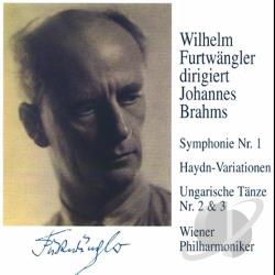 Brahms, J. - Wilhelm Furtwangler Conducts Johannes Brahms CD Cover Art
