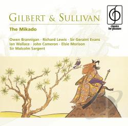 Brannigan / Lewis / Morison / Sargent - Gilbert & Sullivan: The Mikado CD Cover Art