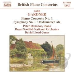 Donohoe / Gardner / Royal Scottish Nat'L Orch - John Gardner: Piano Concerto No. 1; Symphony No. 1; Midsummer Ale CD Cover Art
