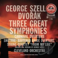 Cvo / Dvorak / Smetana - Dvorak: Three Great Symphonies; Carnival Overture; Bedrich Smetana: Bartered Bride Overture CD Cover Art