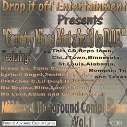 Drop it off Entertainment / Various Artists - Country Niggs Aint Afraid Ta D.I.E. CD Cover Art
