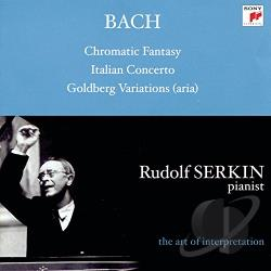 Serkin, Rudolf - Bach: Chromatic Fantasy; Italian Concerto; Goldberg Variations CD Cover Art