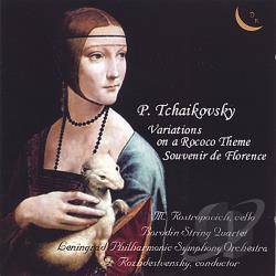 Rostropovic, Mstislav - Tchaikovsky: Variations on a Rococo Theme CD Cover Art