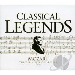 Classical Legends Mozart: 3 CD CD Cover Art