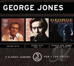 Jones, George - Super Hits/Super Hits, Vol. 2/George and Tammy Super Hits CD Cover Art