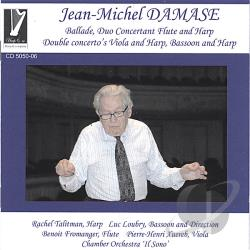 Talitman, Rachel - Jean-Michel Damase:Ballade; Duo Concertant Flute and Harp; Double Concertos Viola and Harp, Bassoon and Harp CD Cover Art