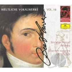 Beethoven - Complete Beethoven Edition Vol 18 - Secular Vocal Works CD Cover Art