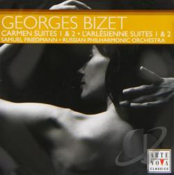Friedmann:cnd / Russian PO - Georges Bizet: Carmen Suites 1 & 2; L'Arlesienne Suites 1 & 2 CD Cover Art