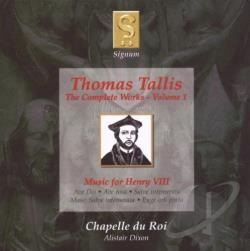 Chapelle Du Roi / Dixon / Tallis - Thomas Tallis: Music for Henry VIII CD Cover Art