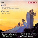 City Of London / Gliere / Hickox - Gliere: Harp Concerto; Concerto for Coloratura Soprano; Ginastera: Harp Concerto CD Cover Art