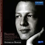 Boyde / Brahms - Brahms: Piano Pieces Op. 76; Two Rhapsodies Op. 79; Fantasies Op. 16 CD Cover Art