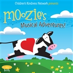 Moozie the Cow - Moozie's Musical Adventures! CD Cover Art