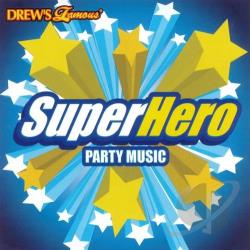 Drew's Famous - Super Hero Party Music CD Cover Art