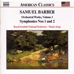 Alsop / Barber / Royal Scottish Nat'L Orchestra - Barber: Orchestral Works, Vol. 1 CD Cover Art