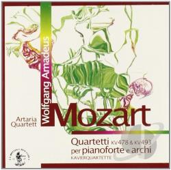 Artaria Piano Quartet - Mozart: Quartetti per pianoforte e archi, KV 478 & KV 493 CD Cover Art