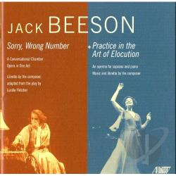 Center For Contempor - Jack Beeson: Sorry, Wrong Number; Practice in the Art of Elocution CD Cover Art