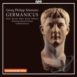 Rexroth / Sack / Scholl / Stahn / Telemann - Georg Philipp Telemann: Germanicus CD Cover Art