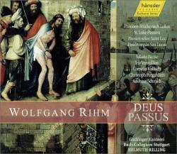 Banse / Kallisch / Rihm / Rilling / Vermillion - Deus Passus: Passion Fragments After St. Luke CD Cover Art