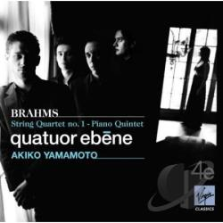 Brahms / Quatuor Ebene - Brahms: String Quartet No. 1; Piano Quintet CD Cover Art