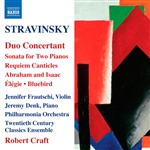 Burgess / Craft / Frautschi / PAO / Stravinsky - Stravinsky: Duo Concertant CD Cover Art