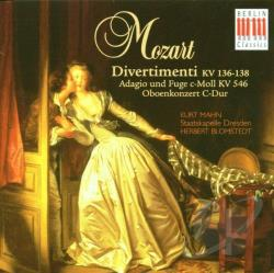 Mozart, Wolfgang Amadeus - Divertimento KV 136-138 CD Cover Art