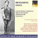 Gigli, Beniamino - Gigli Complete Collection Vol. 3 CD Cover Art