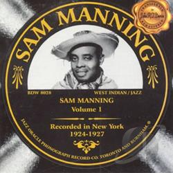 Manning, Sam - Sam Manning 1924-1927 Volume 1 CD Cover Art