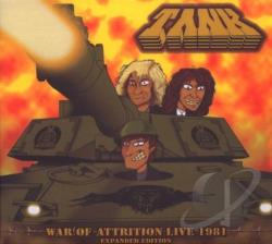 Tank - War of Attrition Live 1981 CD Cover Art