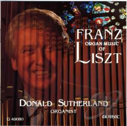 Liszt / Sutherland - Organ Music of Franz Liszt CD Cover Art