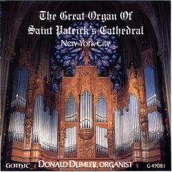 Bach / Clarke / Clokey / Creston / Dumler / Handel - Great Organ of Saint Patrick's Cathedral, New York City CD Cover Art
