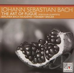 Berliner Bach Akademie / Breue - Bach: The Art of Fugue (for Four Quartets) CD Cover Art