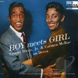 Davis, Sammy Jr. - Boy Meets Girl: Sammy Davis, Jr. & Carmen Mcrae On Decca CD Cover Art