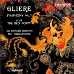 Bbcso / Downes / Gliere - Reinhold Gliere: Symphony No. 1; The Red Poppy Suite CD Cover Art