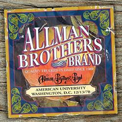 Allman Brothers Band - American University 12/13/70 CD Cover Art