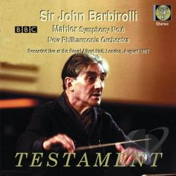 Barbirolli / Mahler / Npo - Mahler: Symphony No. 6 CD Cover Art