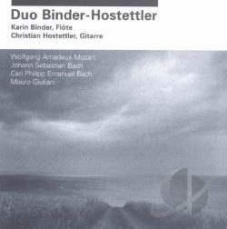 Bach / Binder / Giuliani / Hostettler / Mozart - Music for Flute & Guitar CD Cover Art