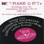 Piano G & T's, Vol. 1: Recordings from the Grammophone Typewriter Era CD Cover Art