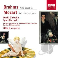 Oistrakh, David - Brahms: Violin Concerto; Mozart: Sinfonia CD Cover Art