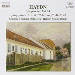 Cologne Chamber Orchestra / Haydn / Muller-Bruhl - Haydn: Symphonies Nos. 43, 46 and 47 CD Cover Art