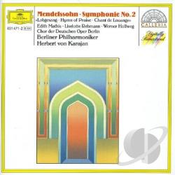 Berliner Phil / Karajan / Mendelssohn - Mendelssohn: Symphony No.2 Hymn Of Praise CD Cover Art