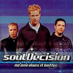 Souldecision - No One Does It Better CD Cover Art